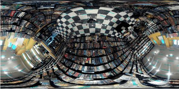 Склеенная из изображений, полученных с камер, панорама