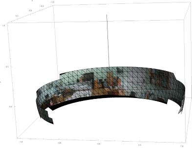 Сенсорный образ для просмотра в очках виртуальной реальности с учетом привязки к центрам