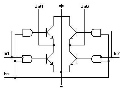 Схема одного моста микросхемы