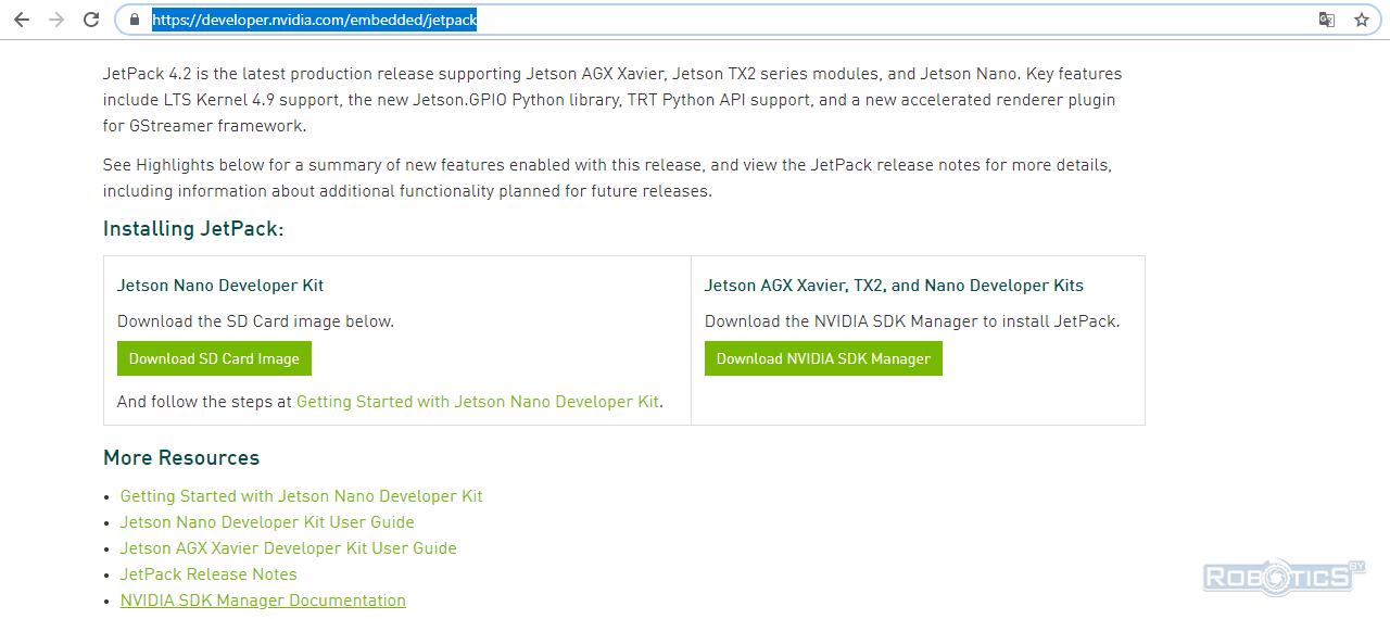 Ссылка на документацию NVIDIA SDK Manager