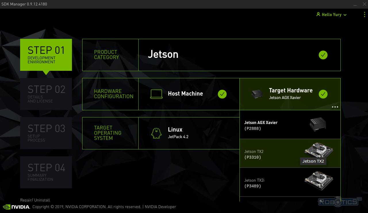 Выбор программно-аппаратной платформы NVIDIA Jetson TX 2