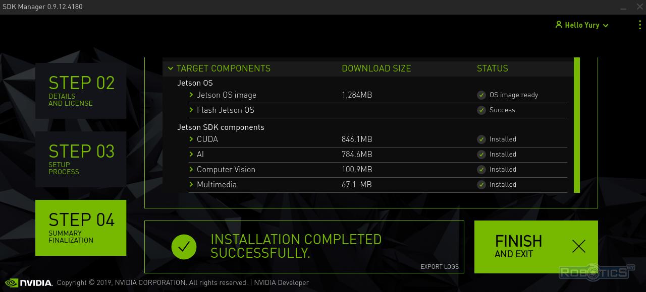 Завершение установки Jetpack 4.2