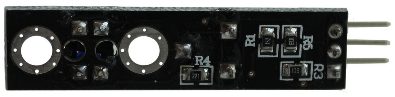 Датчик слежения за линией Arduino. Вид снизу.
