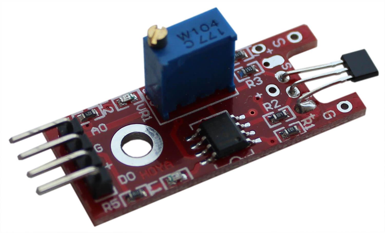 Линейный магнитный датчик Холла Arduino.