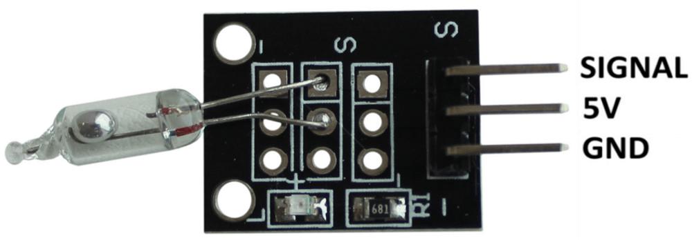 Распиновка модуля датчика наклона Arduino.