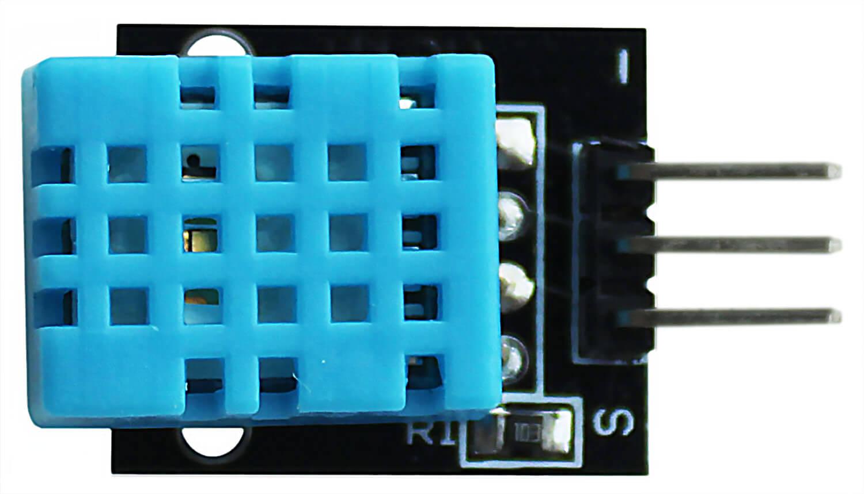 Модуль датчика температуры и влажности Arduino. Вид сверху.