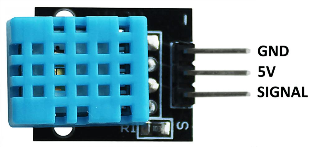 Распиновка модуля датчика температуры и влажности Arduino