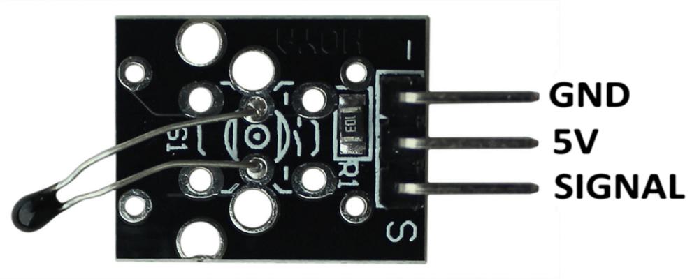 Распиновка аналогового датчика температуры Arduino.