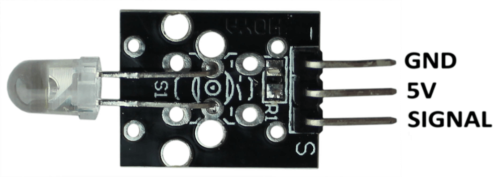 Распиновка модуля ИК светодиода Arduino.