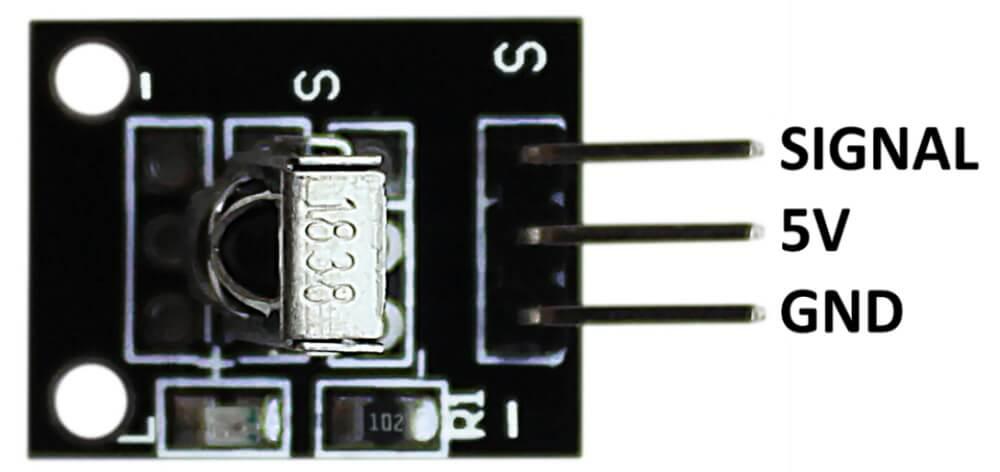 Распиновка модуля ИК приемника Arduino.
