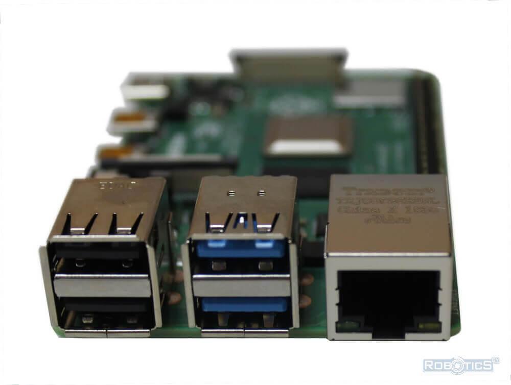 Порты  USB 2.0 и USB 3.0 и разъем RJ45 для Ethernet