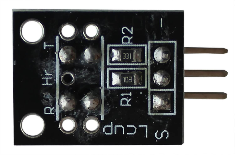 Модуль датчика фотопрерывателя Arduino. Вид снизу.