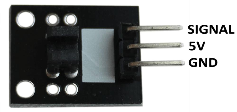 Распиновка модуля датчика фотопрерывателя Arduino.