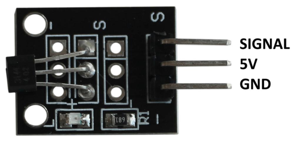 Распиновка цифрового магнитного датчика Холла Arduino.